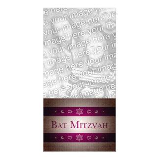 Bat Mitzvah Custom Photo Card