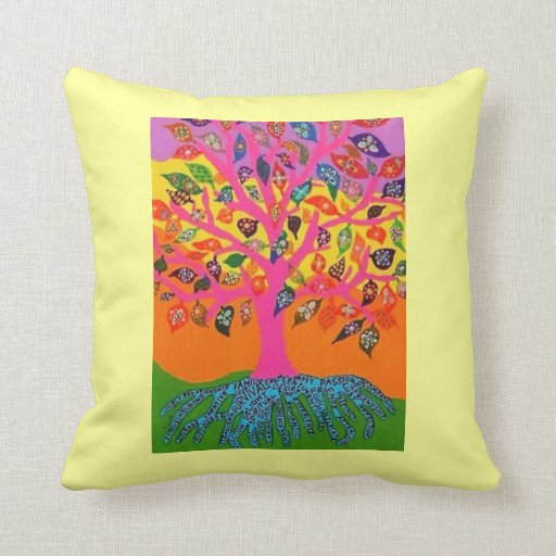 Bat Mitzvah 'Pillow GiveAway' Pink Tree Of Life