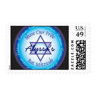 Bat Mitzvah Postage Stamps