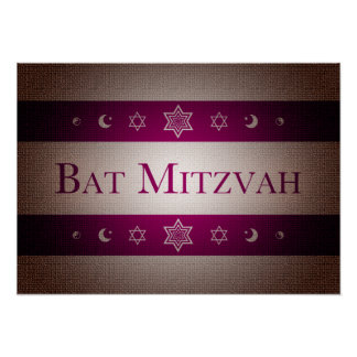 Bat Mitzvah Poster