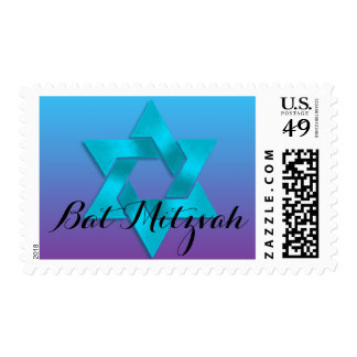 Bat Mitzvah Purple to Blue Fade Stamps