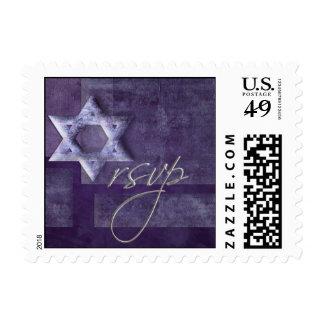 Bat Mitzvah RSVP Postage Stamp