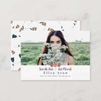 Bat Mitzvah Save the Date Card