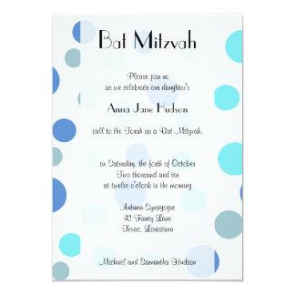 Bat Mitzvah - Seamless Dots, Spots - Blue Cards