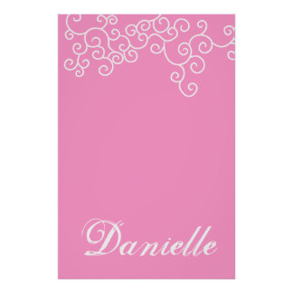 Bat Mitzvah Sign-In Board in Choice of 216 Colors! Poster