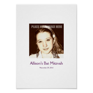 Bat Mitzvah Sign In Party Board