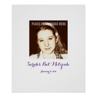 Bat Mitzvah Sign In Party Board Poster