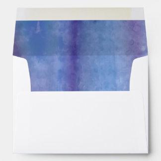 Bat Mitzvah Silver Blue Purple Watercolor Stripes Envelope