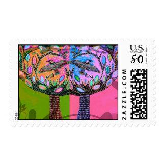 Bat Mitzvah Stamp:Olive Oasis Forest Trees Of Life Postage