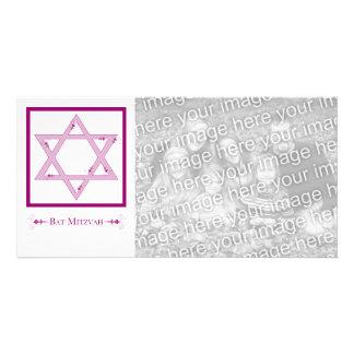 bat mitzvah (star of david elegance) photo greeting card