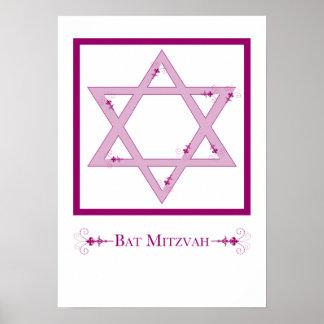 bat mitzvah (star of david elegance) poster