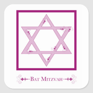 bat mitzvah (star of david elegance) stickers