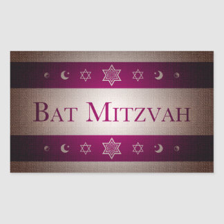 Bat Mitzvah Rectangle Stickers