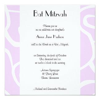 Bat Mitzvah - Swirled Pattern, Swirls - Purple Card