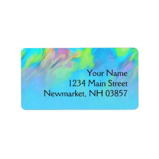 Bat Mitzvah Turquoise Blue Lime Pink Tye Dye Label
