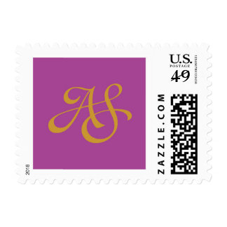 Bat Mizvah Monogram Postage Stamp