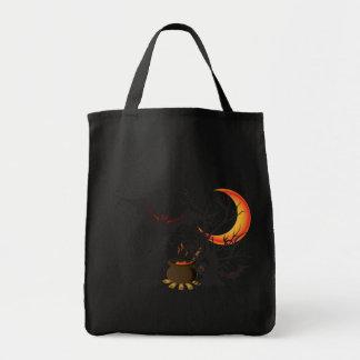 Bat Moon and Cauldron Trick or Treat Bag