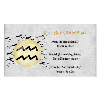 Bat Moon Aquarius Double-Sided Standard Business Cards (Pack Of 100)
