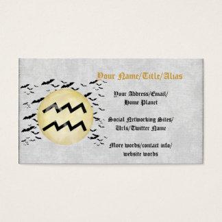 Bat Moon Aquarius Business Card