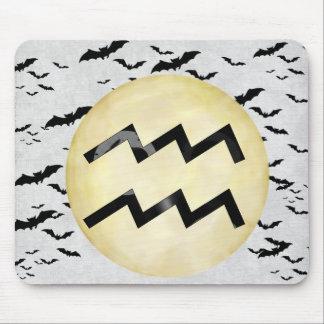 Bat Moon Aquarius Mouse Pad