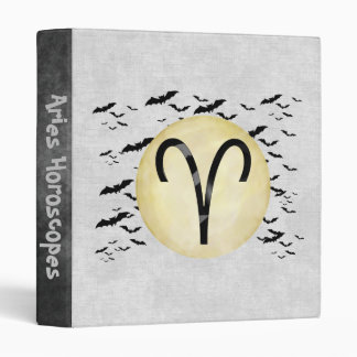 Bat Moon Aries Vinyl Binder