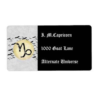 Bat Moon Capricorn Label