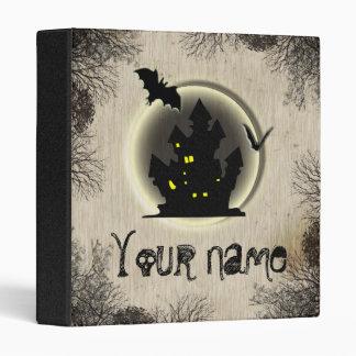 Bat moon castle halloween YOUR NAME Binders