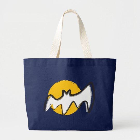 Bat & Moon Large Tote Bag