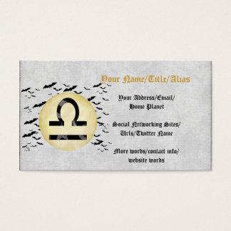 Bat Moon Libra Business Card