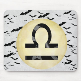 Bat Moon Libra Mouse Pad