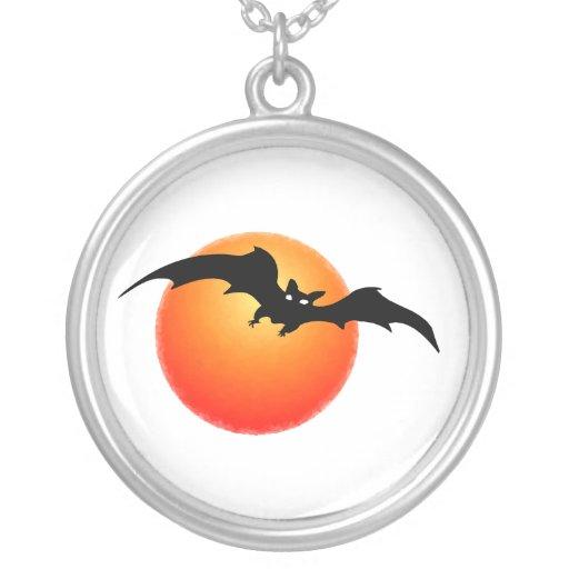 Bat Moon Necklace