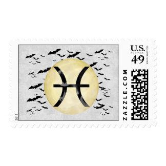 Bat Moon Pisces Postage
