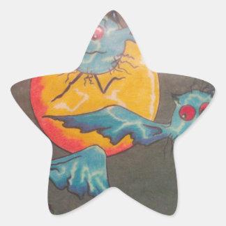 Bat Moon Rising Star Sticker