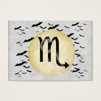 Bat Moon Scorpio Business Card