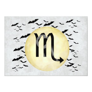 Bat Moon Scorpio 5x7 Paper Invitation Card
