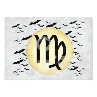 "Bat Moon Virgo 5"" X 7"" Invitation Card"