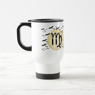 Bat Moon Virgo Travel Mug