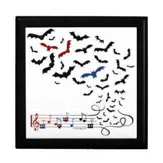 Bat Music Design 2 Trinket Boxes