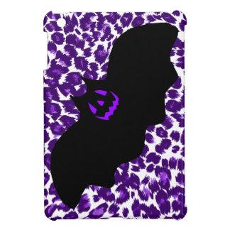Bat on a Purple Leopard Spot Background Case For The iPad Mini