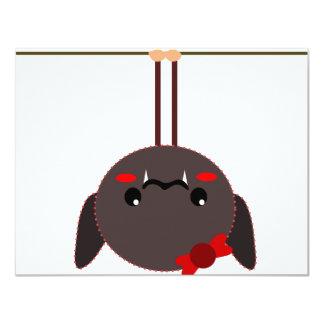 "bat on a wire vampire 4.25"" x 5.5"" invitation card"