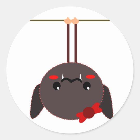 bat on a wire vampire classic round sticker