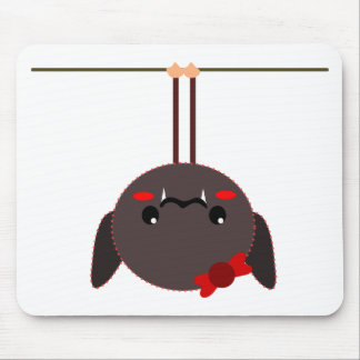 bat on a wire vampire mouse pad