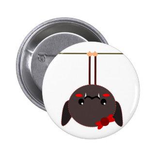 bat on a wire vampire pinback button