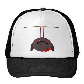 bat on a wire vampire trucker hat
