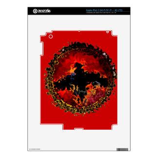 Bat on Fire Art iPad 3 Decal
