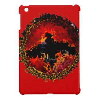 Bat on Fire art iPad Mini Covers
