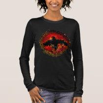 Bat on Fire Digital Art Long Sleeve T-Shirt