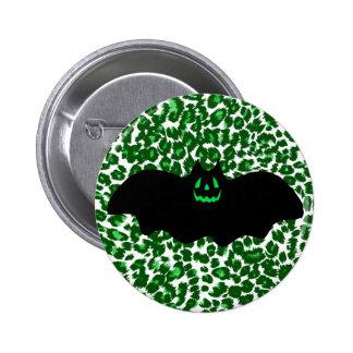 Bat On Green Leopard Spots Pins