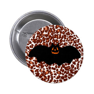Bat On Leopard Spot Background Buttons