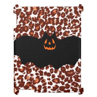 Bat On Leopard Spot Background iPad Case